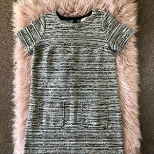LOFT grey knit dress with pockets